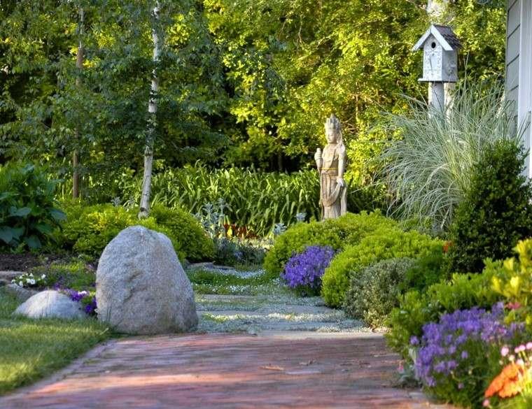 roca camino estatua casa meditacion