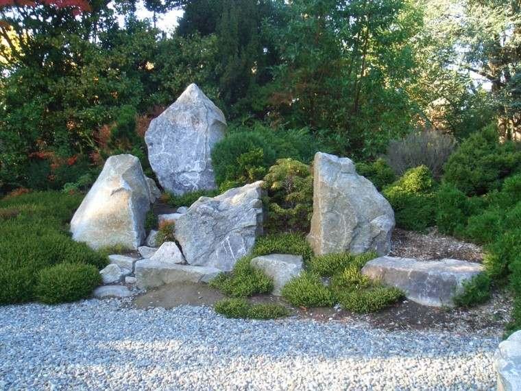 rocas grandes deco de jardín