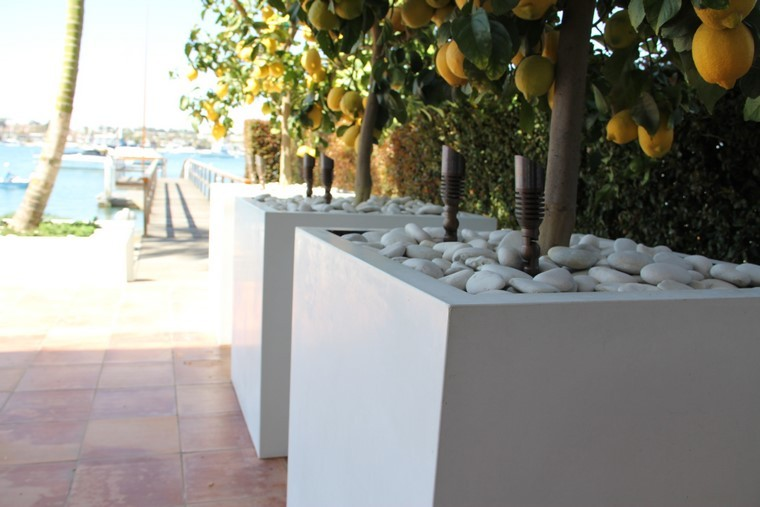 rocas moderno concreto lamparas limonero