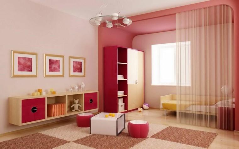 perfect elegant cheap rojo rosa cortina blanca larga alfombra colores cuarto decoracion juvenil with cortinas de habitacion juvenil with cortinas de cuartos - Cortinas Habitacion Juvenil