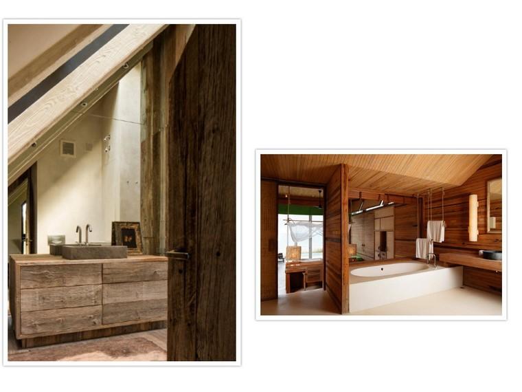 rustico muebles natural textura baños