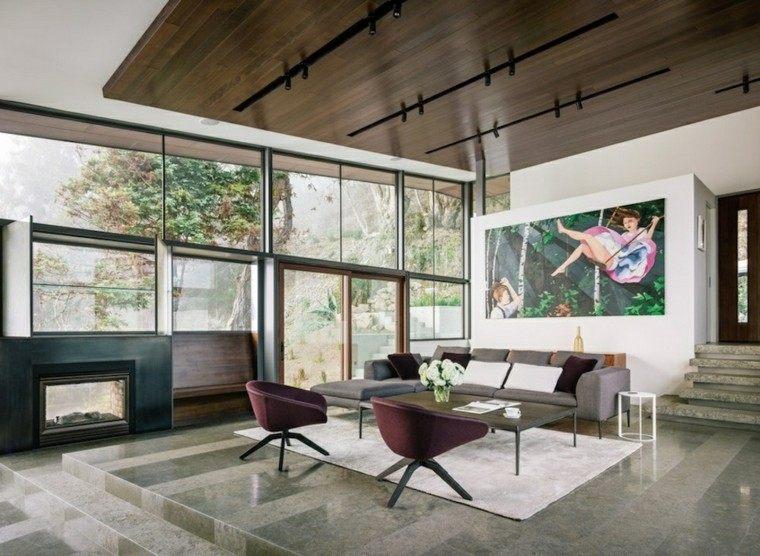 sala de estar moderna soltero
