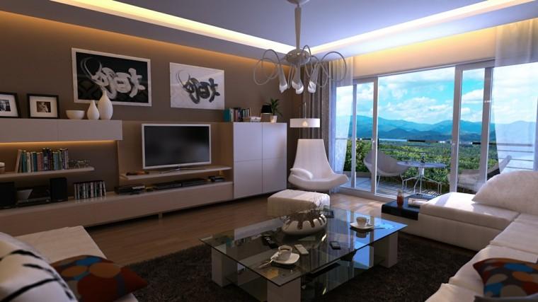 sala de estar soltero moderno
