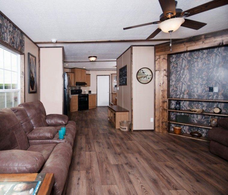 Sala de estar para apartamento de soltero todo un lujo for Sala de estar madera