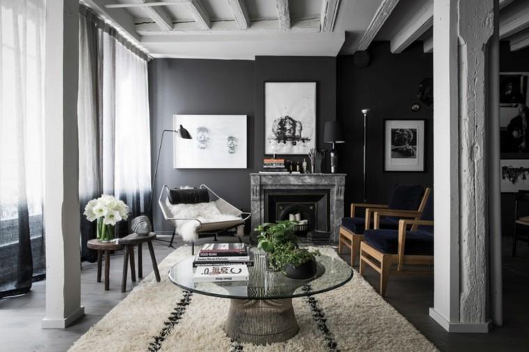 sala de estar soltero columnas