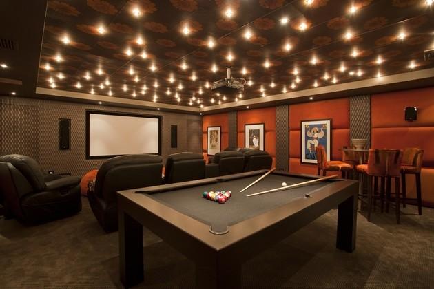 sala juegos billar diseño moderno