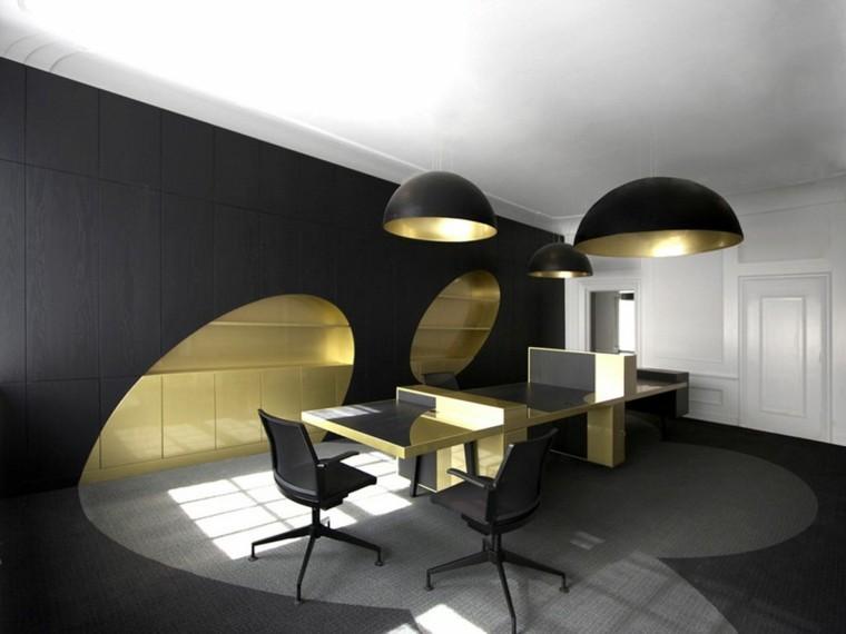 Color negro y dorado, elegancia para espacios interiores