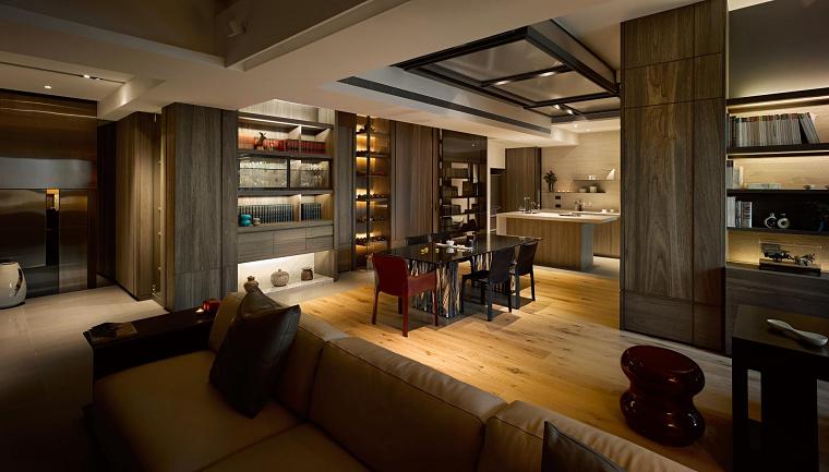 salon abierto moderno diseño ideas originales