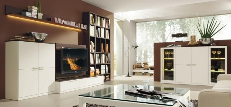 salon amplio blanco mobiliario ideas mesa moderno cristal