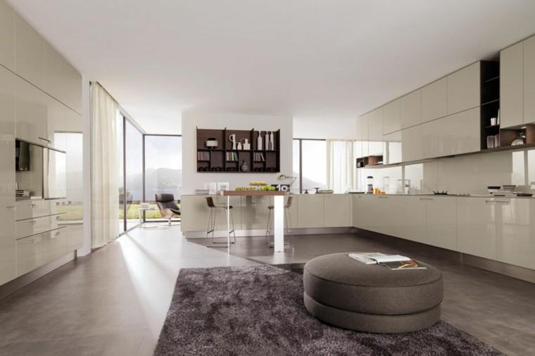 salon amplio cocina loft puf