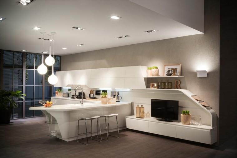 salon comedor cocina soltero moderna
