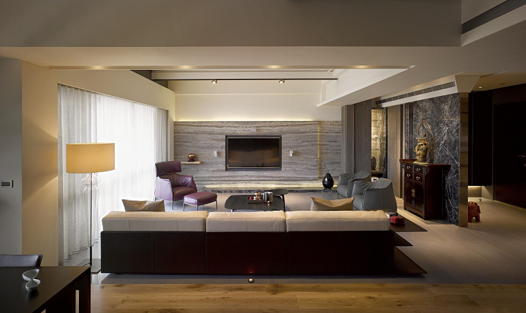 salon diseño moderno ideas originales amplio estilo asiatico