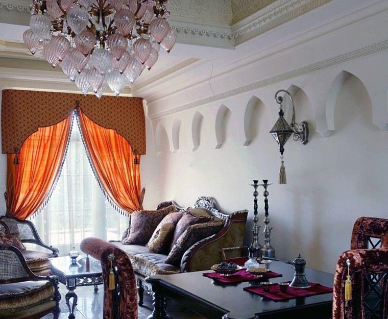 salon estilo marroqui blanca pared muebles ideas rusticos