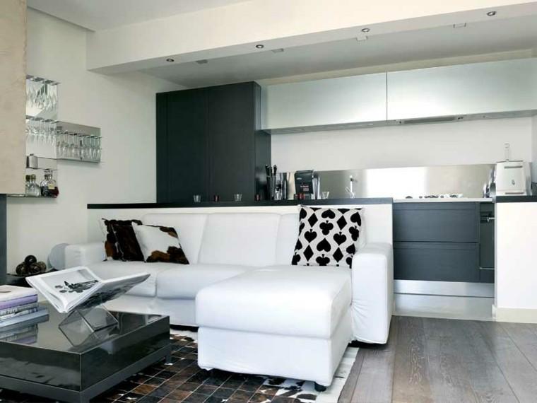 salón loft piso soltero minimalista