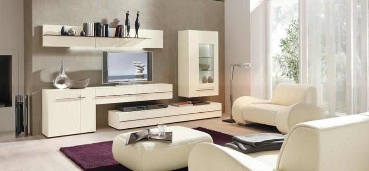salon luminoso ventanales muebles cuero ideas blanco