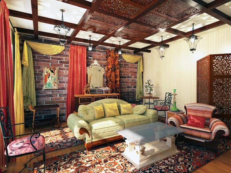 salon marroqui ideas original telas alfombras