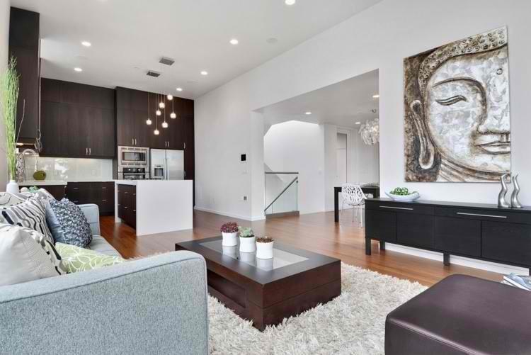 salon moderno cuadro plantas zen decoracion