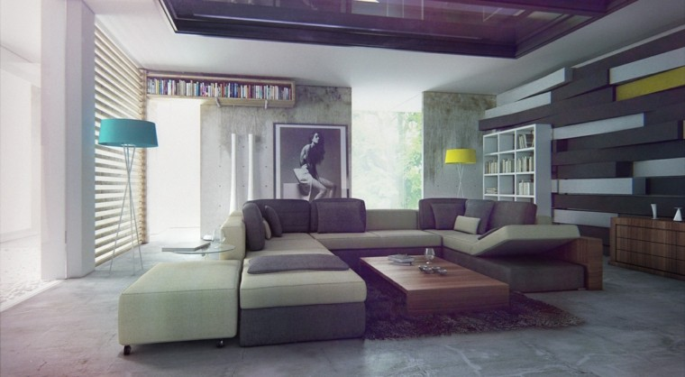 salon moderno sofa grande foto