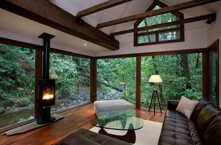 Muebles rústicos para el salón moderno