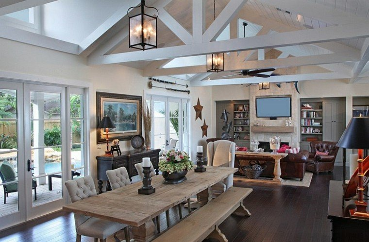 muebles r sticos para el sal n moderno. Black Bedroom Furniture Sets. Home Design Ideas