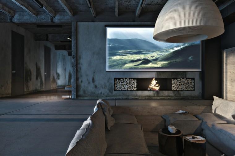 salon soltero piso moderno industrial