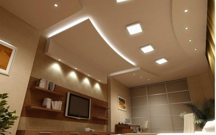 Iluminaci n led 75 ideas incre bles para el hogar - Luces led para salon ...