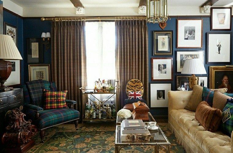 salones de diseño cortinas muebles lamparas cijines