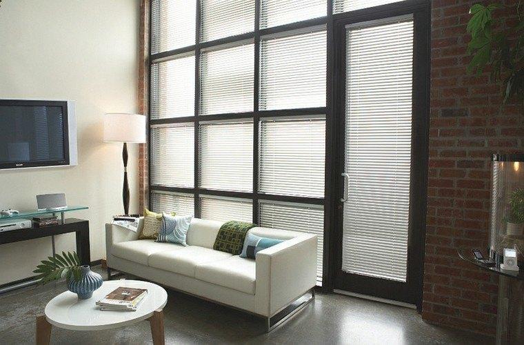 salones de diseño ladrillos sobrio cojines industrial