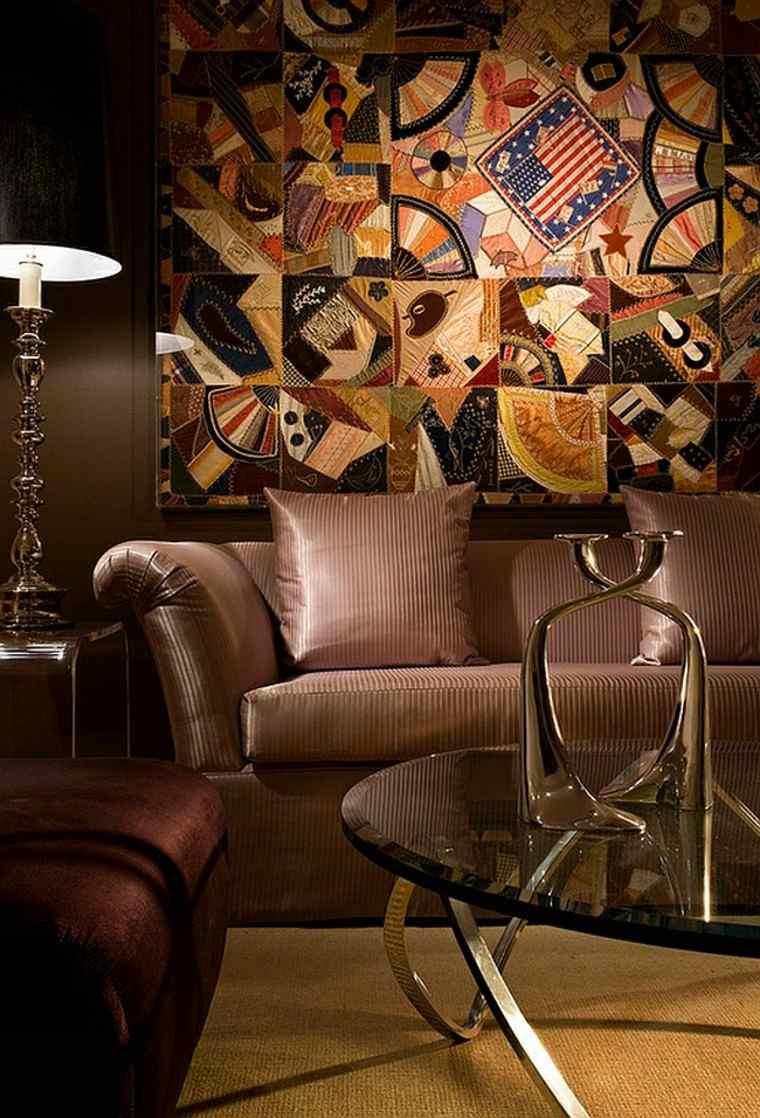 salones de diseño pared mural metal bandera