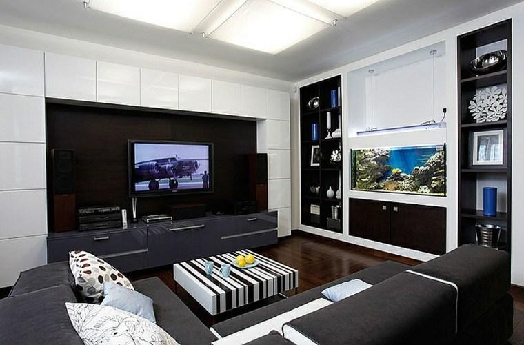 salones de diseño rayas madera blanco viril
