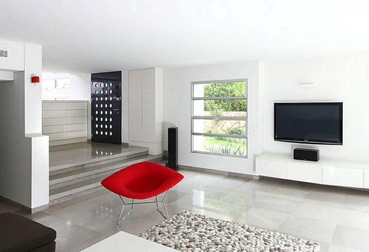 salones de diseño rojos sillon moderno minimalista