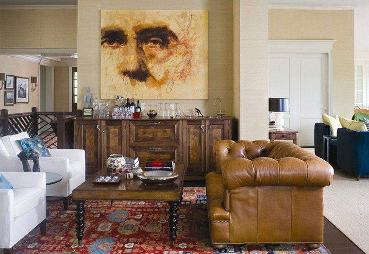 salones de diseño sofa chester cuadro