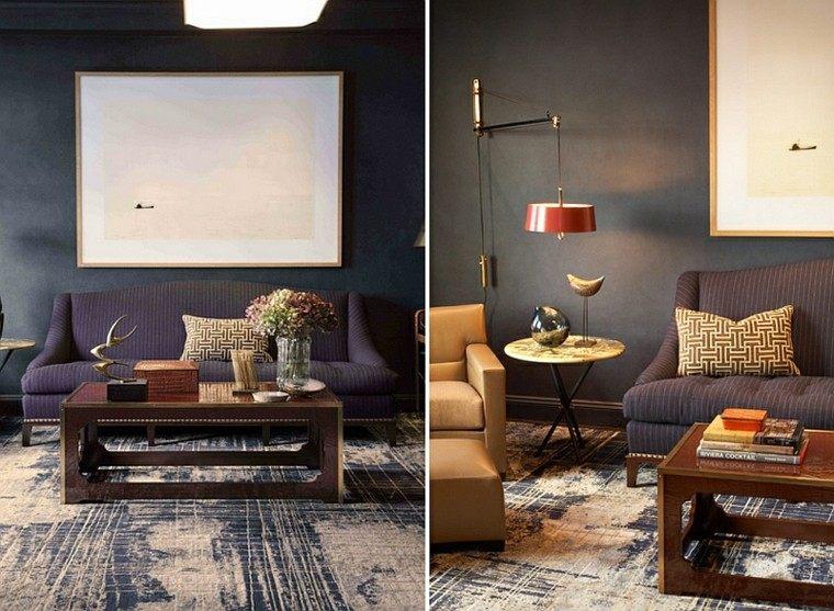 salones de diseño varonil gris madera mesa