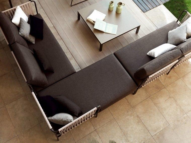 salones exterior cuerdas sofa textiles