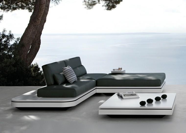 salones moderno exterior canape terraza oceano