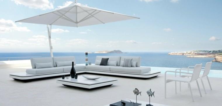 salones moderno sombrilla exterior mar