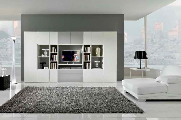 salones modernos alfombra lampara muebles