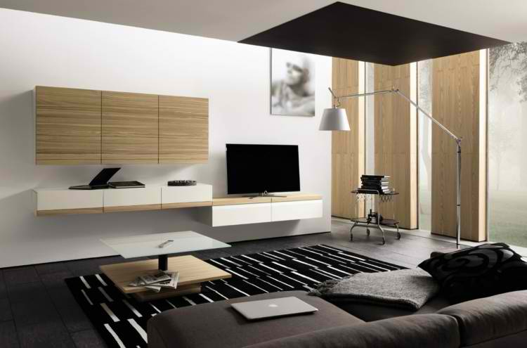 salones modernos cuadro lampara