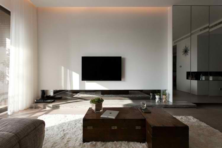 salones modernos madera decoracion minimalista