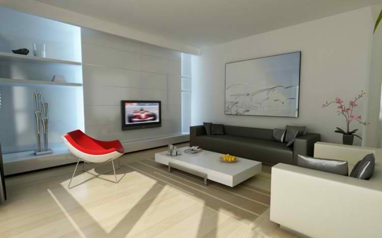 Salones modernos 50 ideas minimalistas incre bles - Cuadros para salones minimalistas ...