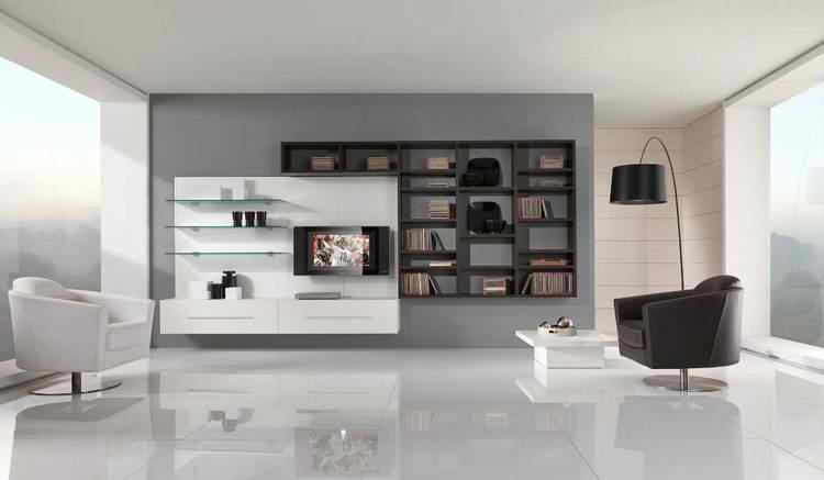 Salones Modernos 50 Ideas Minimalistas Increibles - Muebles-de-mamposteria-de-salon