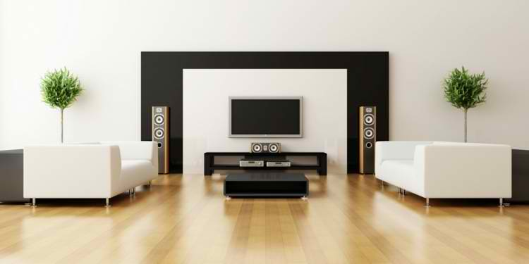 salones modernos plantas decoracion madera