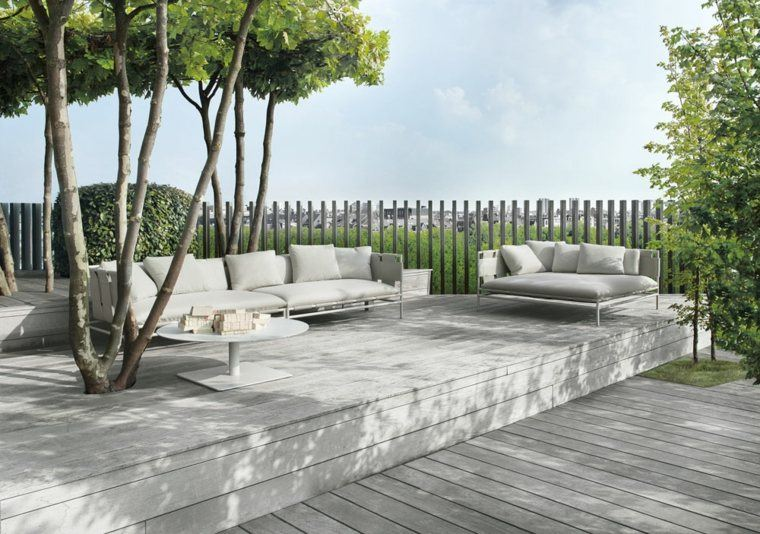salones plataforma terraza mobiliario cercado