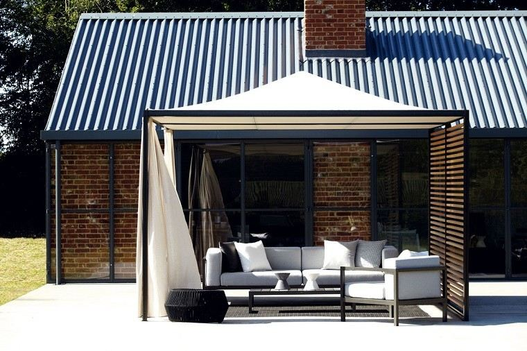 salones techado cortinas moderno exterior