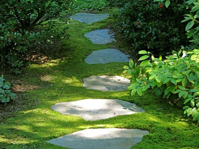 senderos jardines lajas enterradas jardin