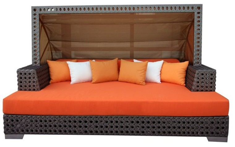 serenite luxury sofa color naranja