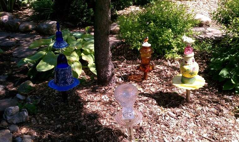 setas lamparas jardin brico DIY