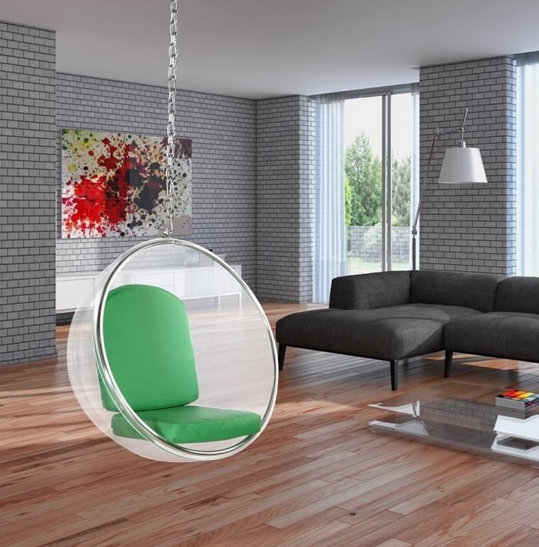silla colgante cadena moderna acrilico
