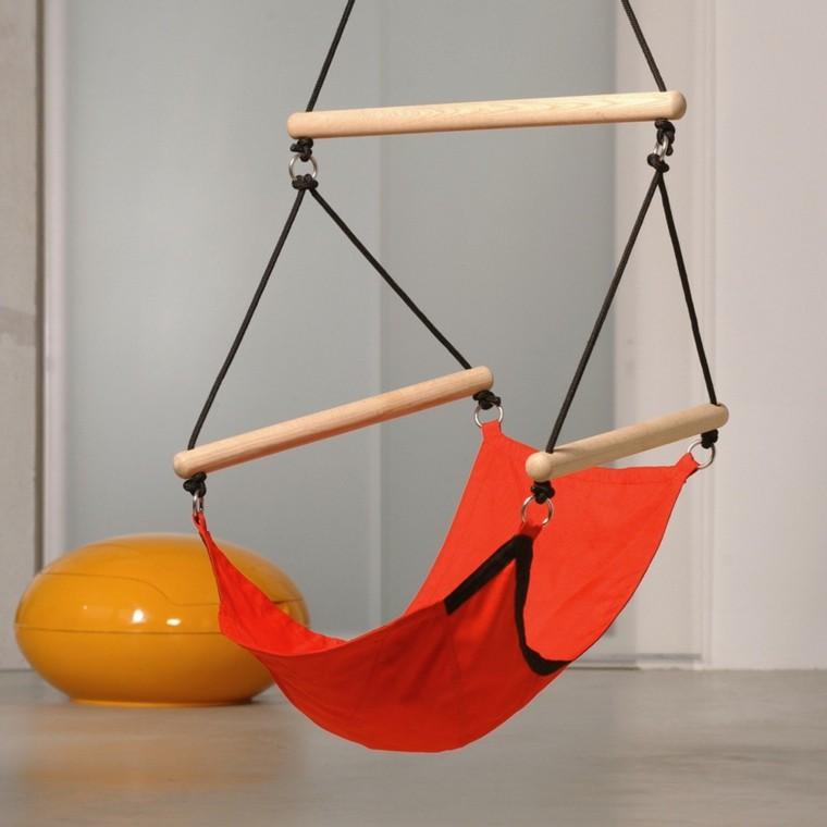 silla colgante ninos ideas colores vibrantes telas resistentes bonito