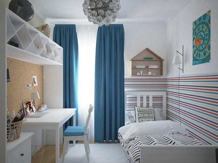 Creatividad para dormitorios infantiles funcionales y divertidos - Habitaciones infantiles azules ...